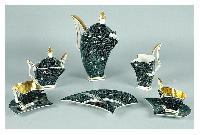 Fot. katalog aukcji Rempex; W  2006 na aukcji w Rempexie serwis deserowy do kawy, porcelana r�cznie malowana ( farby naszkliwne, z�ocenia)   STEATYT Bogucice, wczesne l. 60-te XX w.  sprzedano za 2000 z� ( cena wywo�awcza 1500)