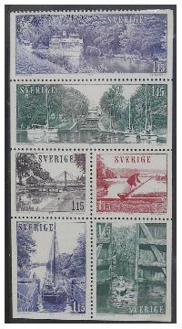 Fot. GJ; znaczki wykonane dla Poczty Szwedzkiej z lat 70-tych.