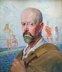 Fot. katalog aukcji Rempex; MALCZEWSKI Jacek (1854-1929)Autoportret olej, deska (z dwoma szpongami), 54 x 44,5 cm;